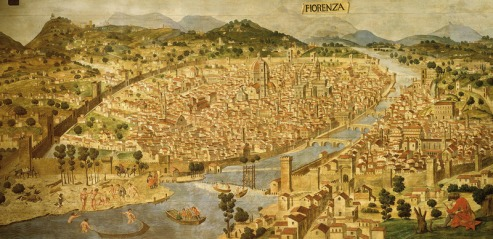 Florence, Italy, 1490 (19th century reconstruction of 15th century painting)